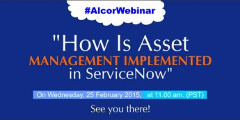 Announcing The Webinar- How Is Asset Management Implemented In ServiceNow
