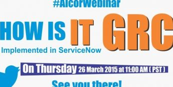 Announcing The Webinar- How Is IT-GRC Implemented In ServiceNow