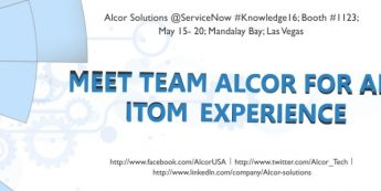 Alcor Solutions Is At ServiceNow Knowledge 16