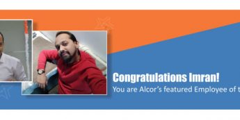 Imran is Alcor's Employee of The Month | Congratulations!